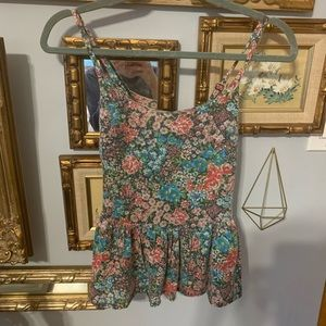 Urban Outfitters Floral peplum top